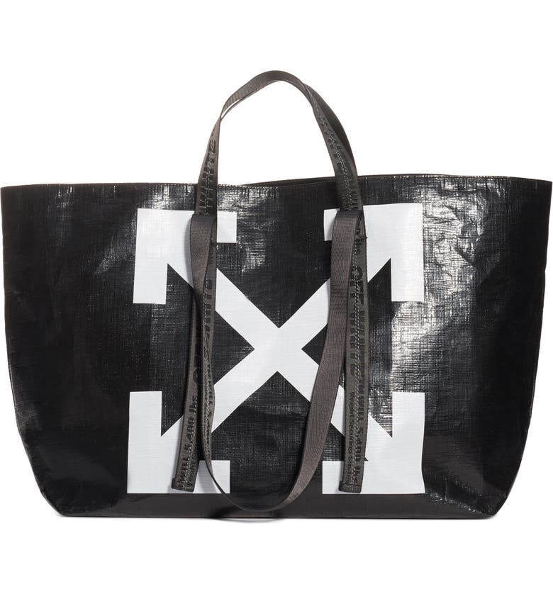 OFF-WHITE New Commercial Tote, Main, color, BLACK WHITE