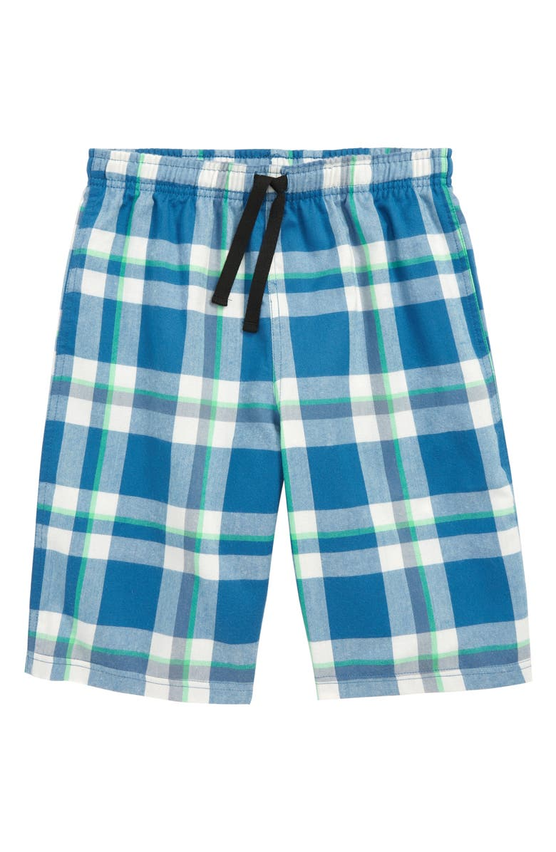 TUCKER + TATE Flannel Shorts, Main, color, BLUE DARK- IVORY PLAID