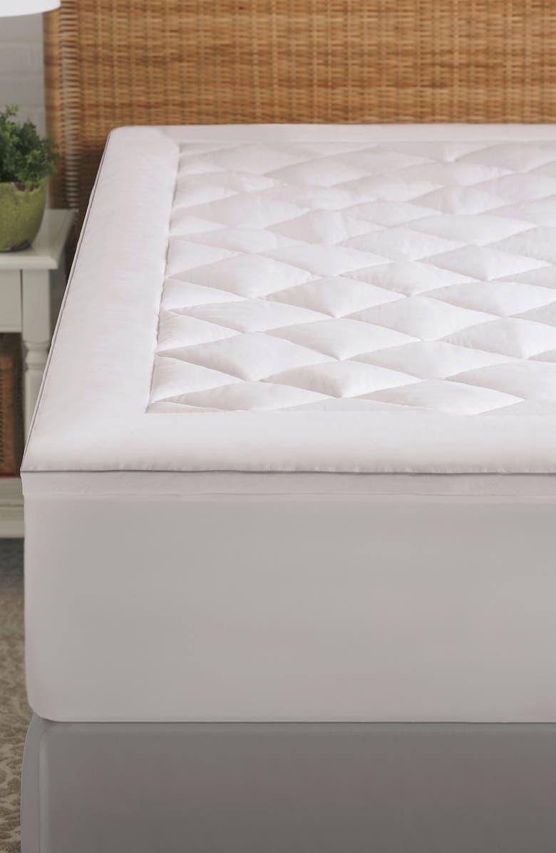 PURE ASSURE Climarest PureAssure Allergen Barrier Mattress Pad, Main, color, WHITE