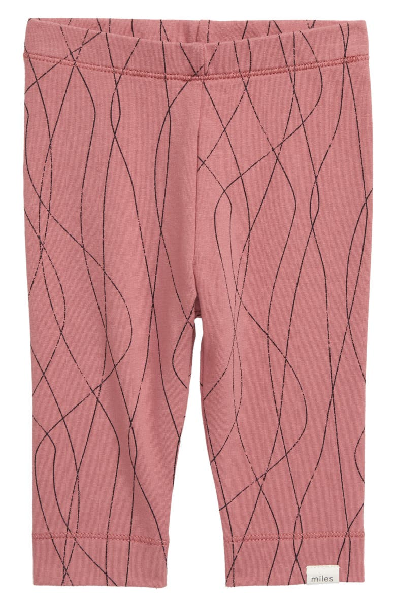 MILES BABY Knit Leggings, Main, color, PINK