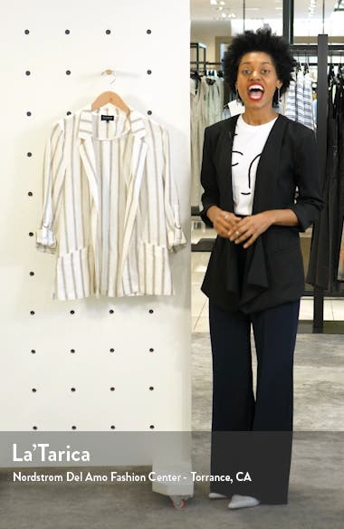 Cabana Stripe Roll Sleeve Jacket, sales video thumbnail