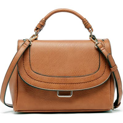 Sole Society Rubie Faux Leather Crossbody Bag - Brown