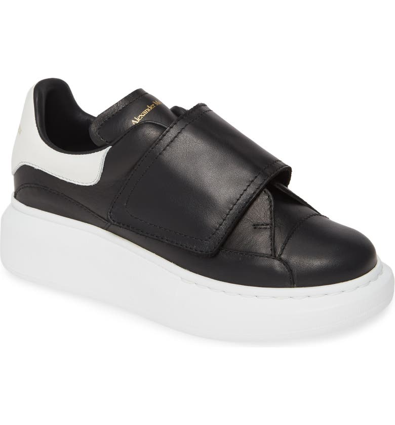 ALEXANDER MCQUEEN Platform Sneaker, Main, color, BLACK/ WHITE