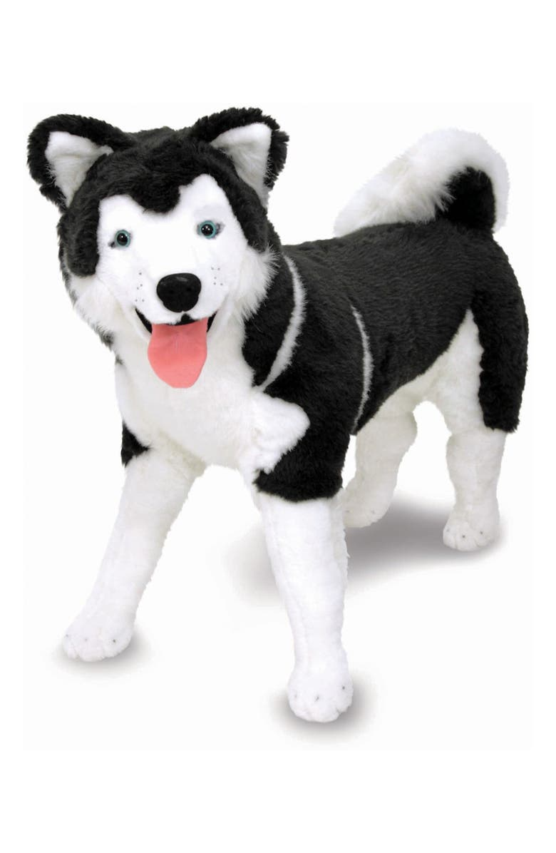 MELISSA & DOUG Oversize Plush Husky Dog, Main, color, MULTI