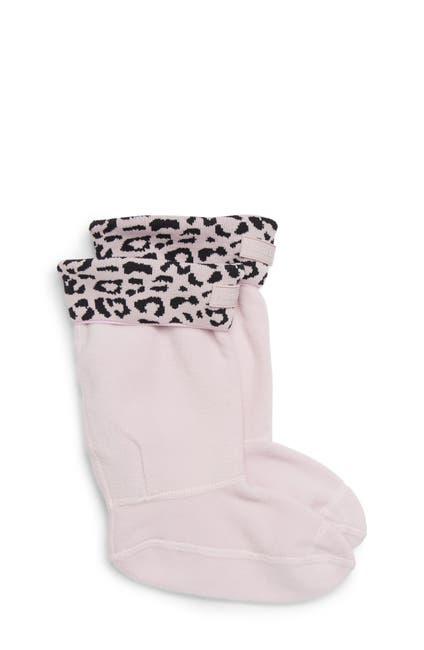 Image of Hunter Snow Leopard Print Cuff Boot Sock