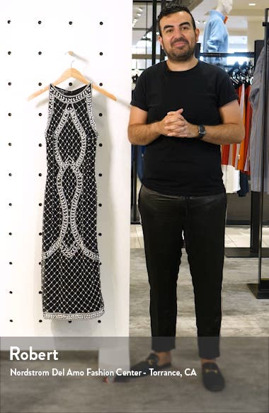 Middy Pearly Beaded Sheath Dress, sales video thumbnail