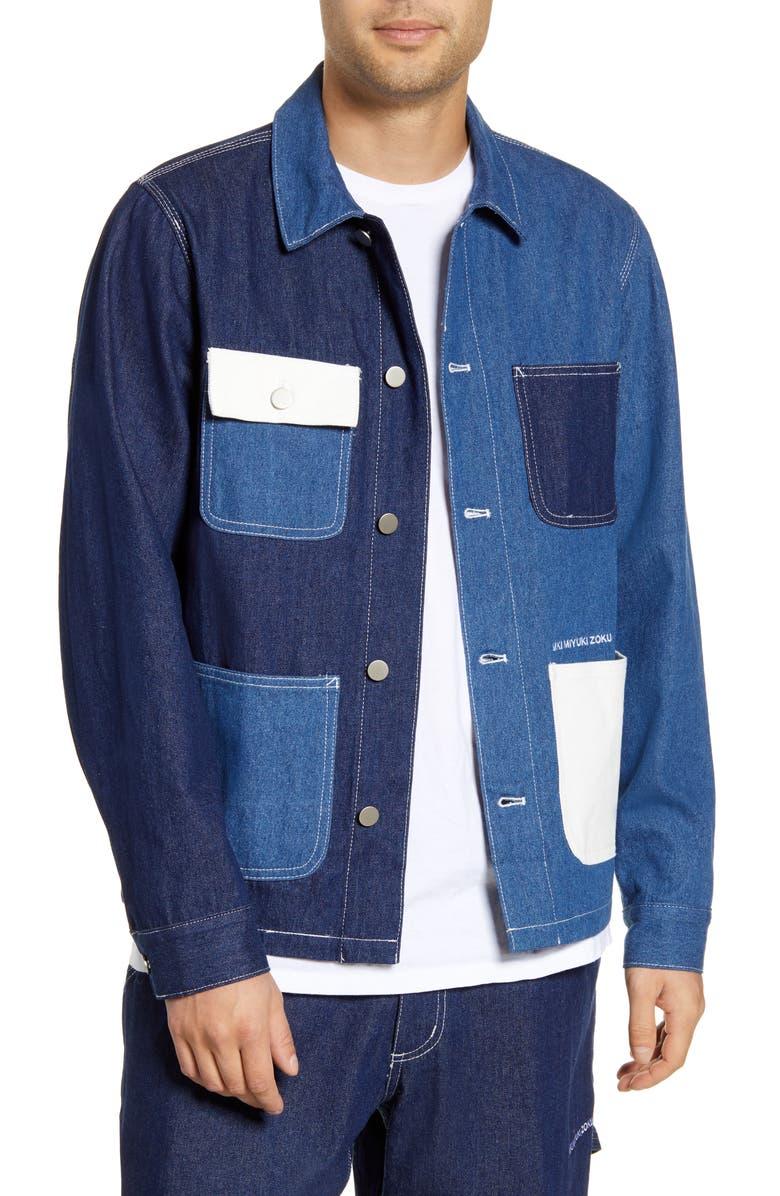 Patchwork Denim Chore Jacket by Mki Miyuki Zoku