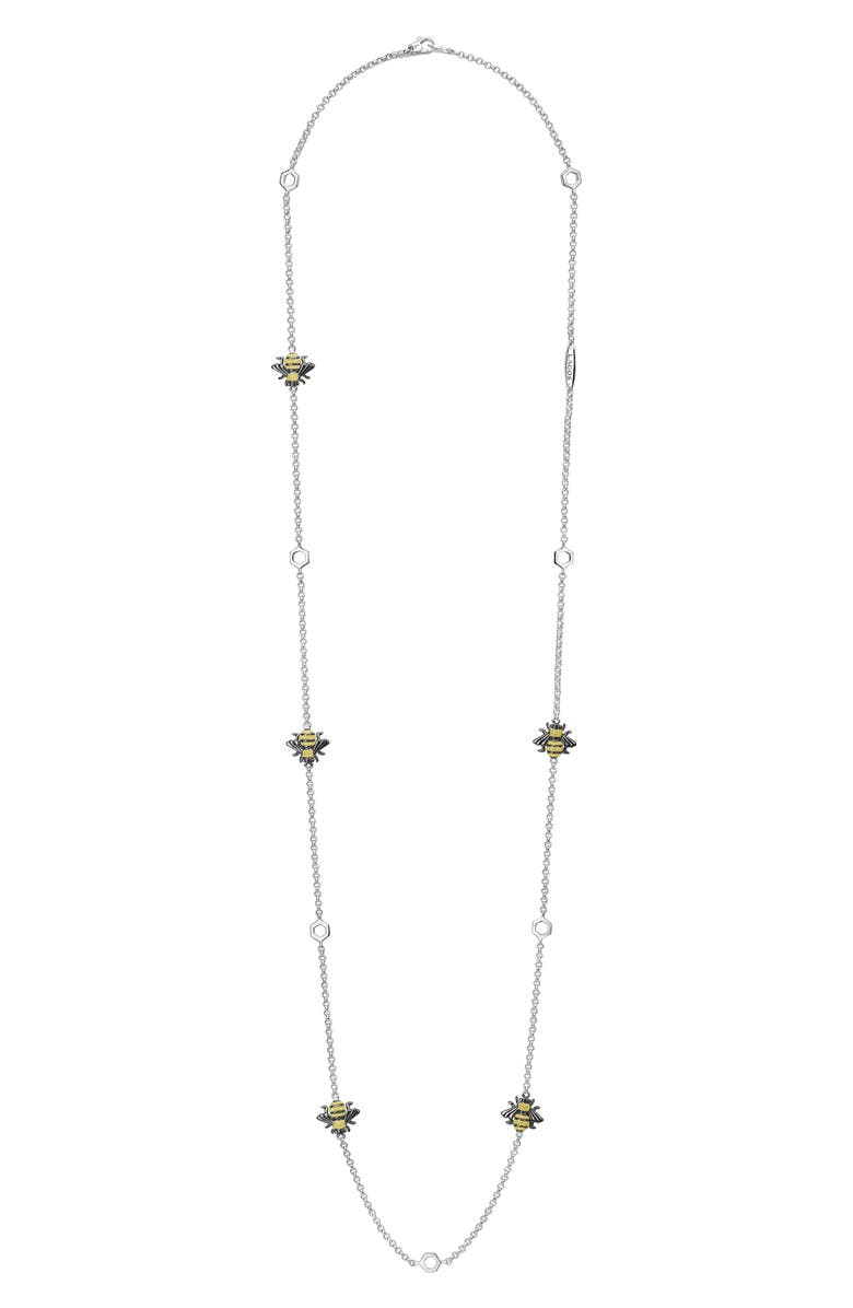 LAGOS Rare Wonders - Honeybee Station Long Necklace, Main, color, SILVER/ GOLD
