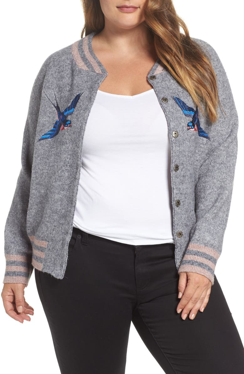 0fd7a0d1f Zanja Embroidered Knit Bomber Jacket