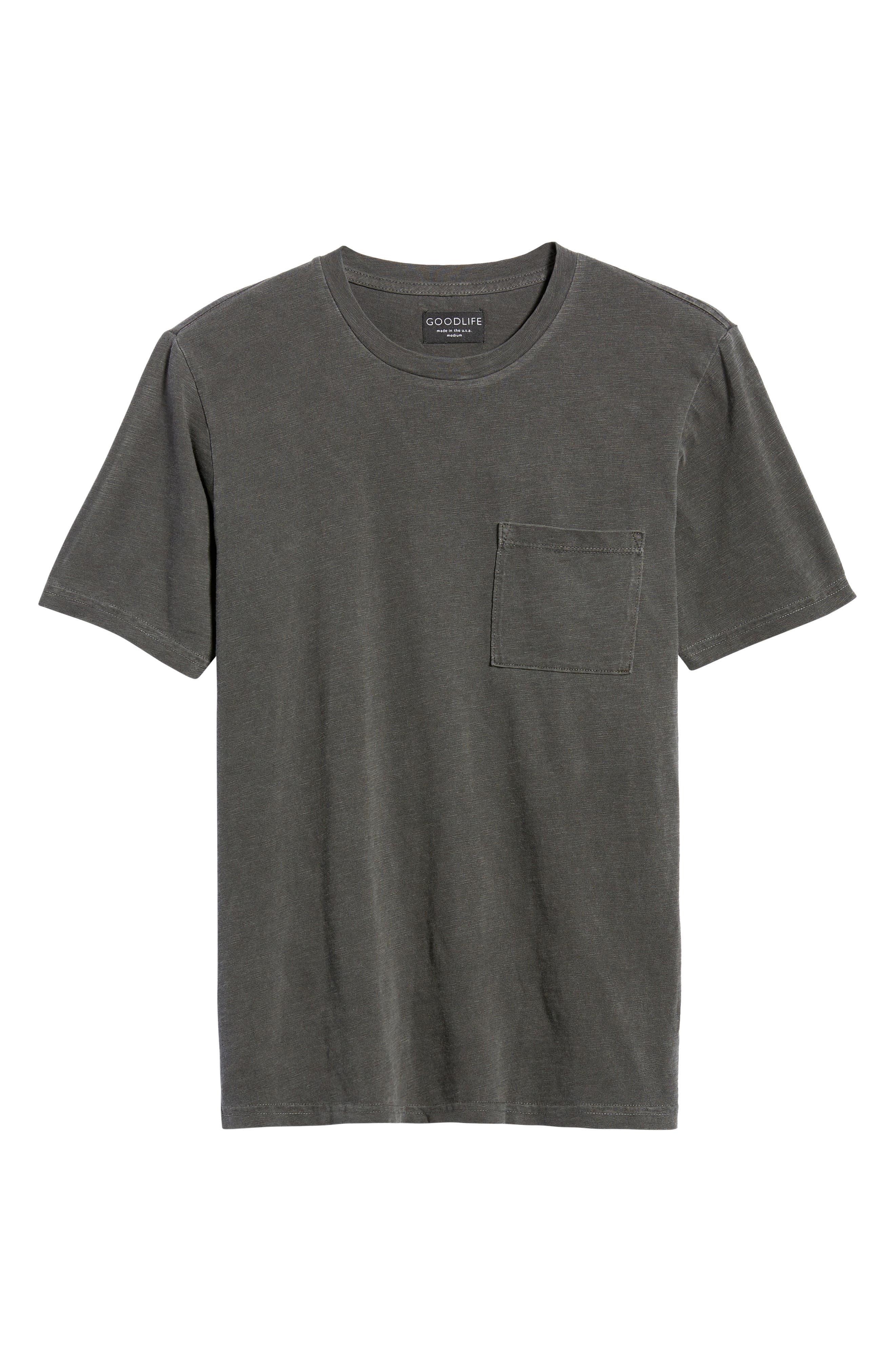 Sunfaded Slub Cotton Pocket T-Shirt