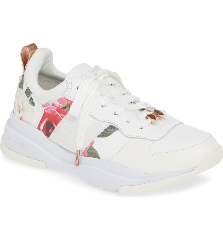 TED BAKER LONDON Waverdi Sneaker, Main, color, MAGNIFICENT WHITE LEATHER