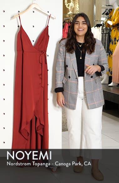 Mariah Wrap Evening Dress, sales video thumbnail