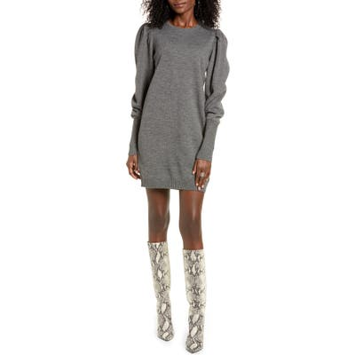 Wayf X Influencers San Francisco Puff Sleeve Sweater Dress, Black (Nordstrom Exclusive)