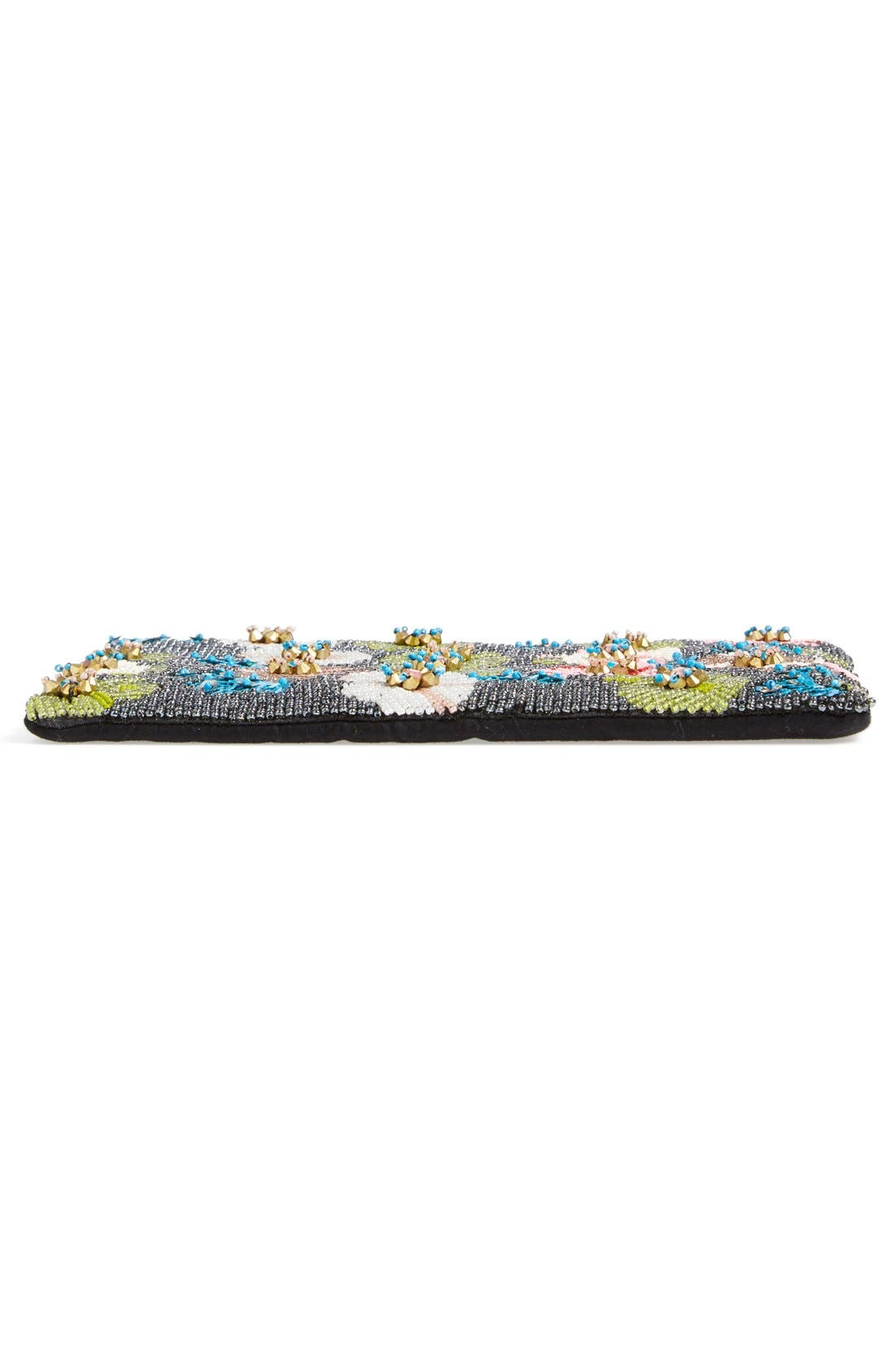 ,                             Natasha Couture Beaded Floral Clutch,                             Alternate thumbnail 6, color,                             650
