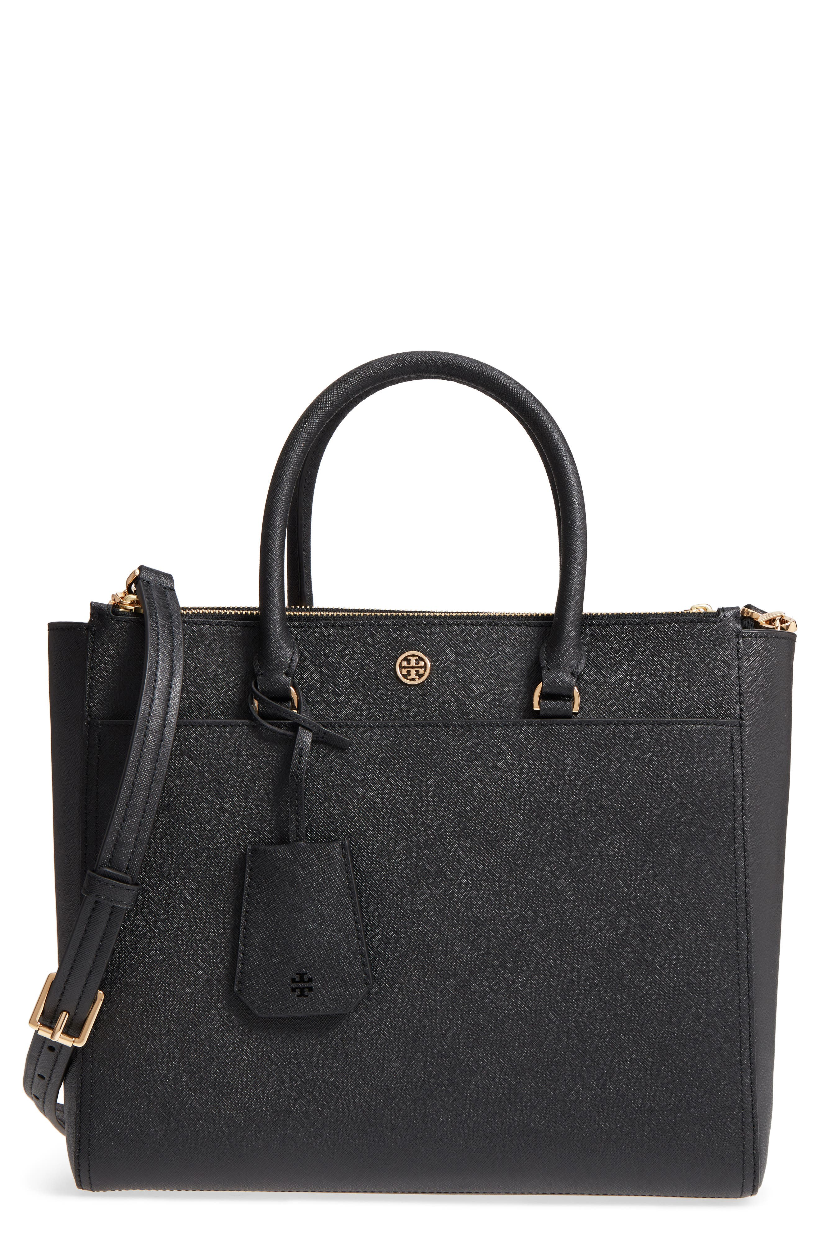 Robinson Double-Zip Leather Tote, Main, color, 018