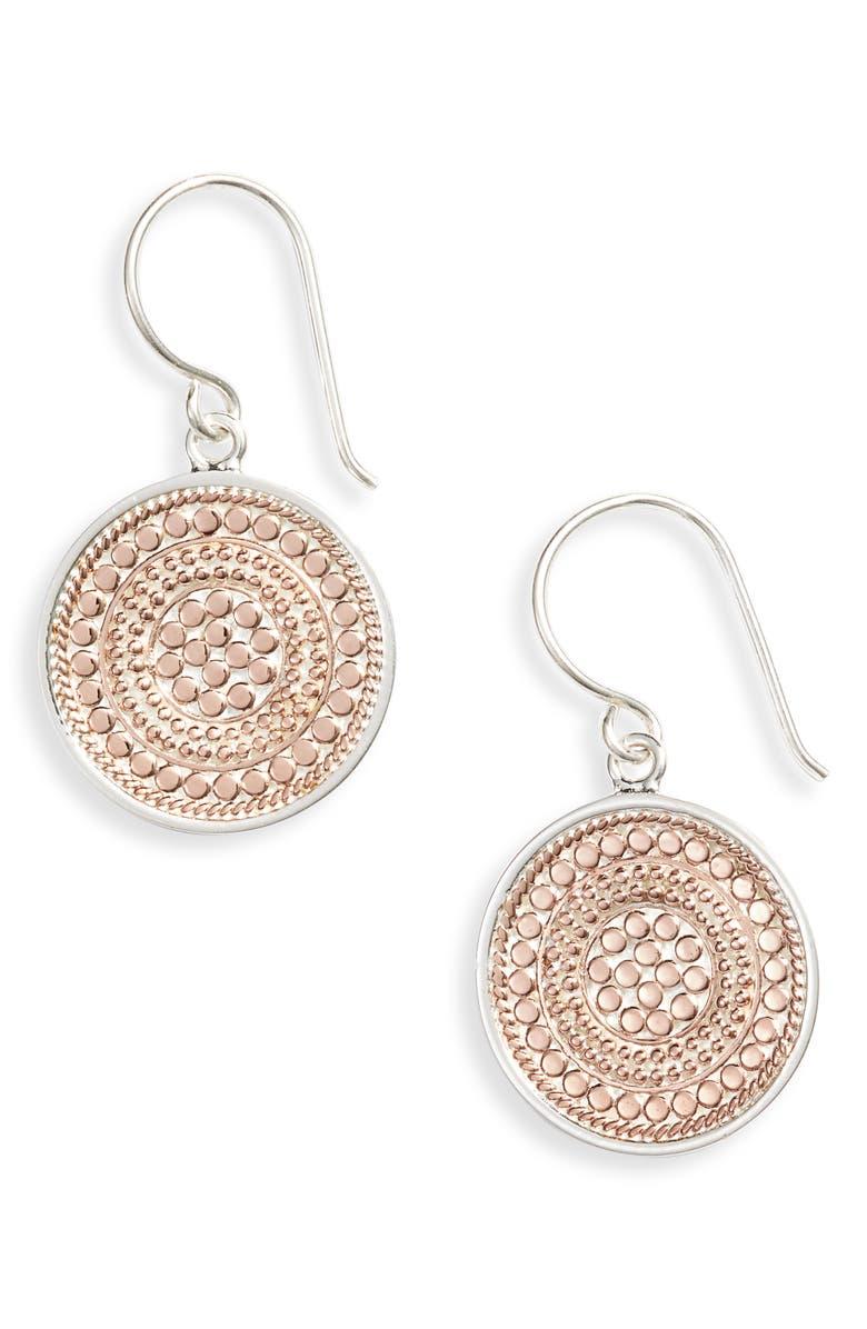ANNA BECK Beaded Circle Drop Earrings, Main, color, 650