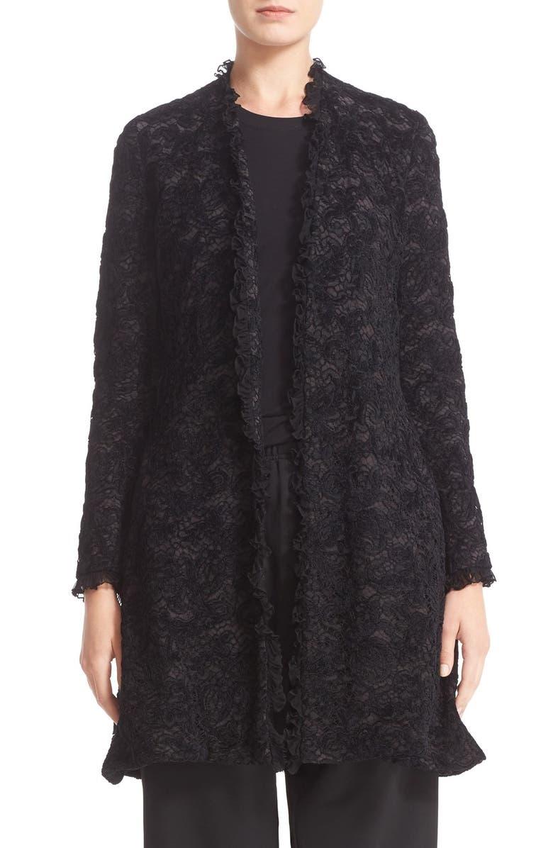KOCHÉ Lace Jacket, Main, color, Black