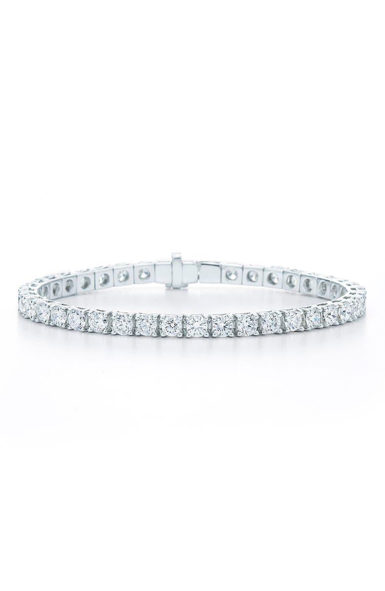 KWIAT Riviera Diamond Line Bracelet, Main, color, WHITE GOLD