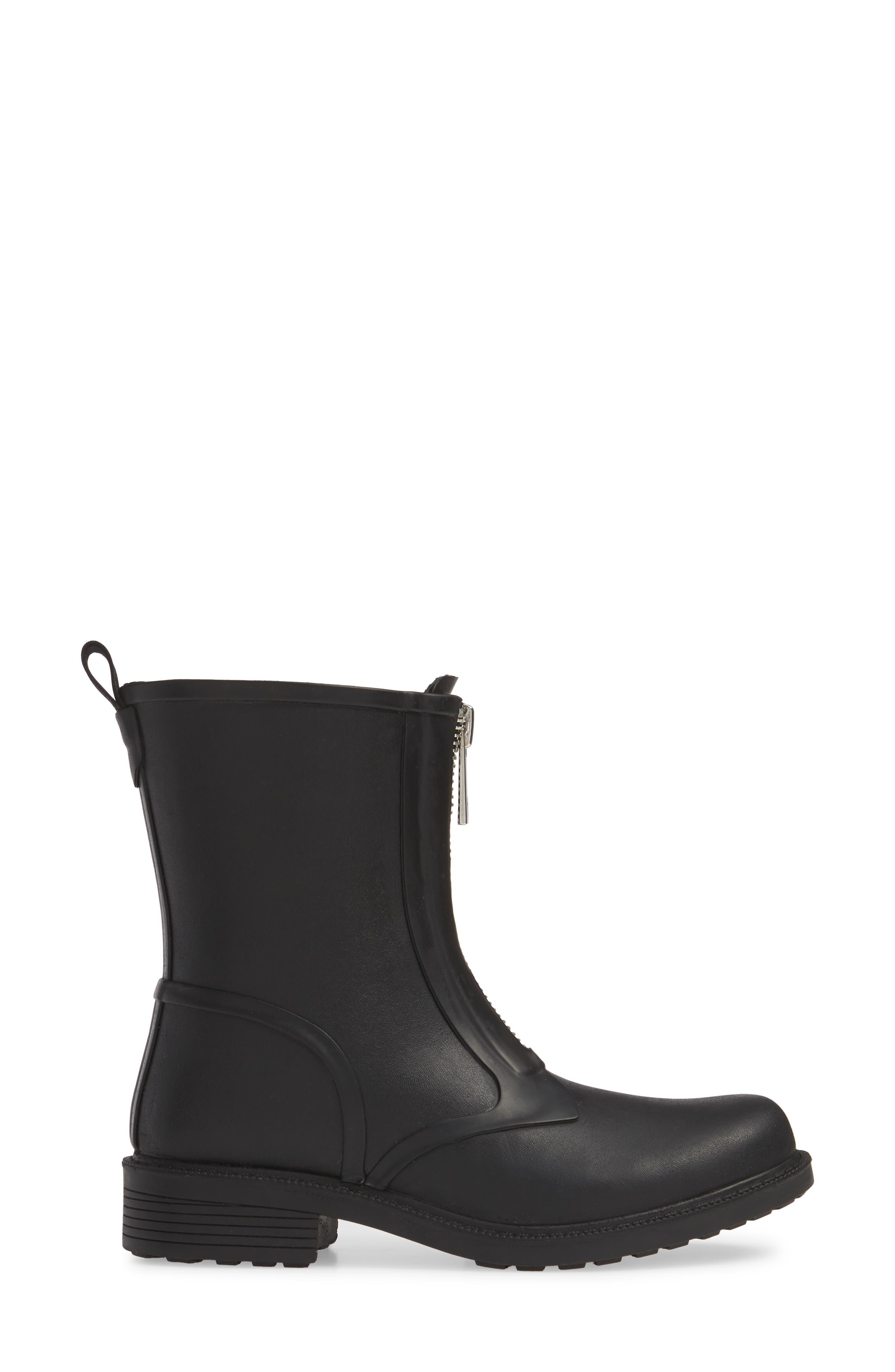 ,                             Storm Waterproof Rain Boot,                             Alternate thumbnail 3, color,                             BLACK