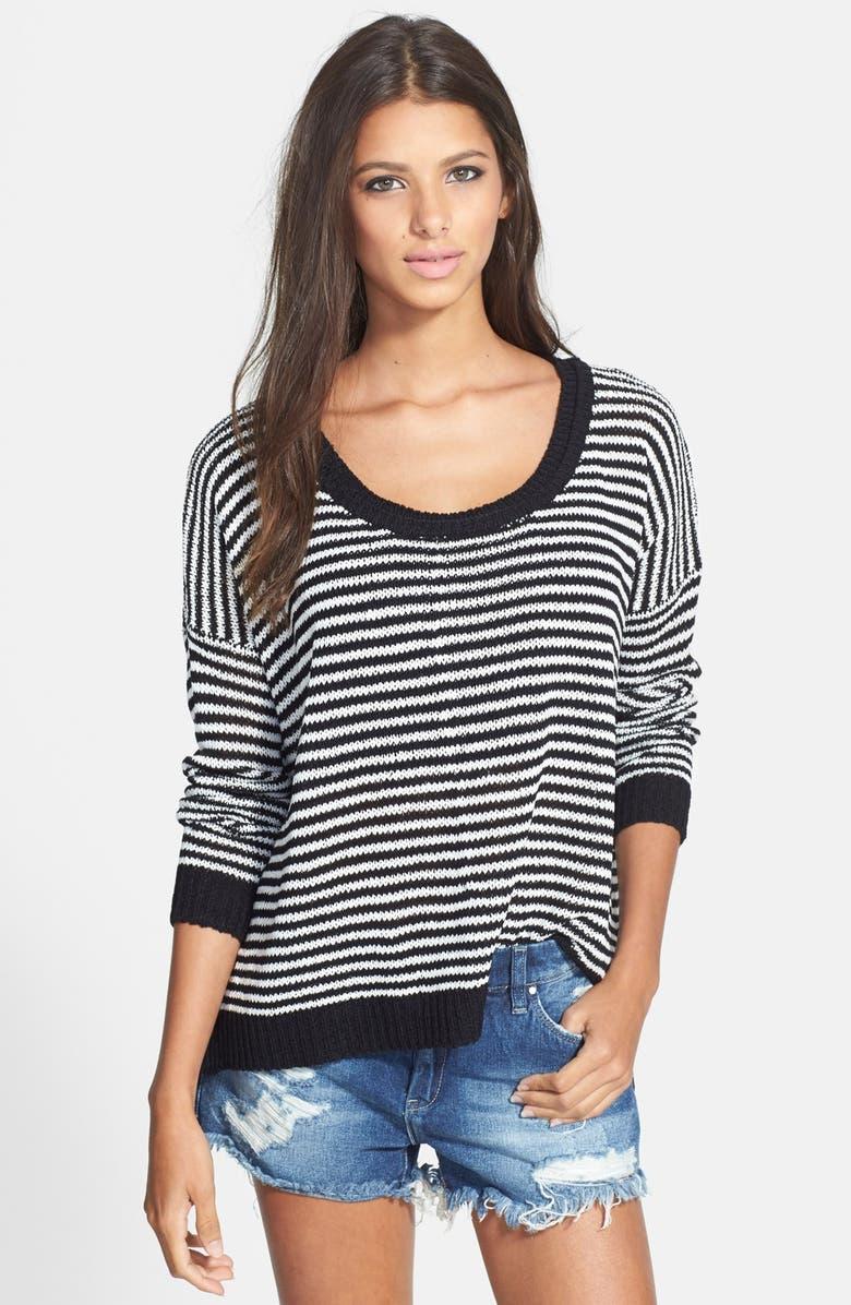 ASTR THE LABEL ASTR Stripe Pullover Sweater, Main, color, 001
