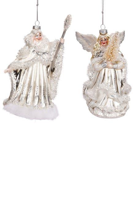 Image of Mark Roberts Winter Pearl Princess Ornament 6'' - Set of 2