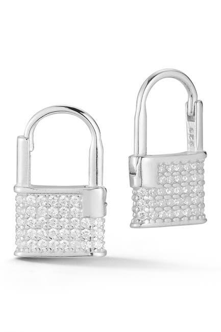 Image of Sphera Milano Silver Padlock Earrings