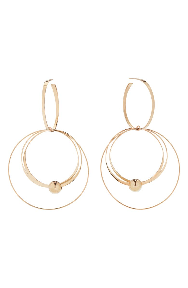 LANA JEWELRY Flat Wire Mixed Hoop Drop Earrings, Main, color, 710