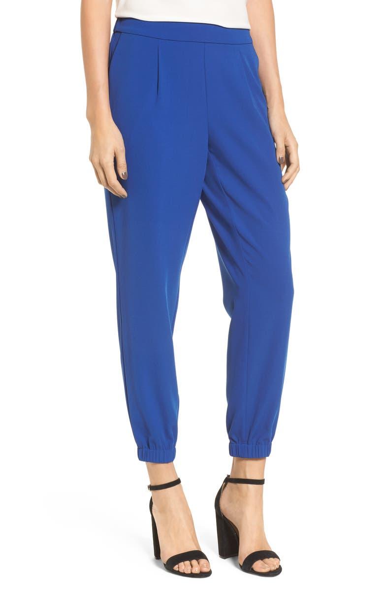 CHELSEA28 Stretch Crepe Jogger Pants, Main, color, 401