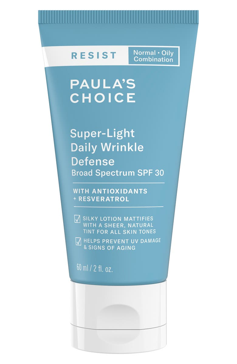 PAULA'S CHOICE Resist Super Light Wrinkle Defense Lotion SPF 30, Main, color, NO COLOR