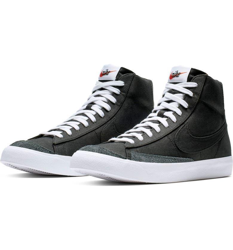 NIKE Blazer Mid '77 Vintage Sneaker, Main, color, BLACK/ BLACK/ BLACK/ WHITE