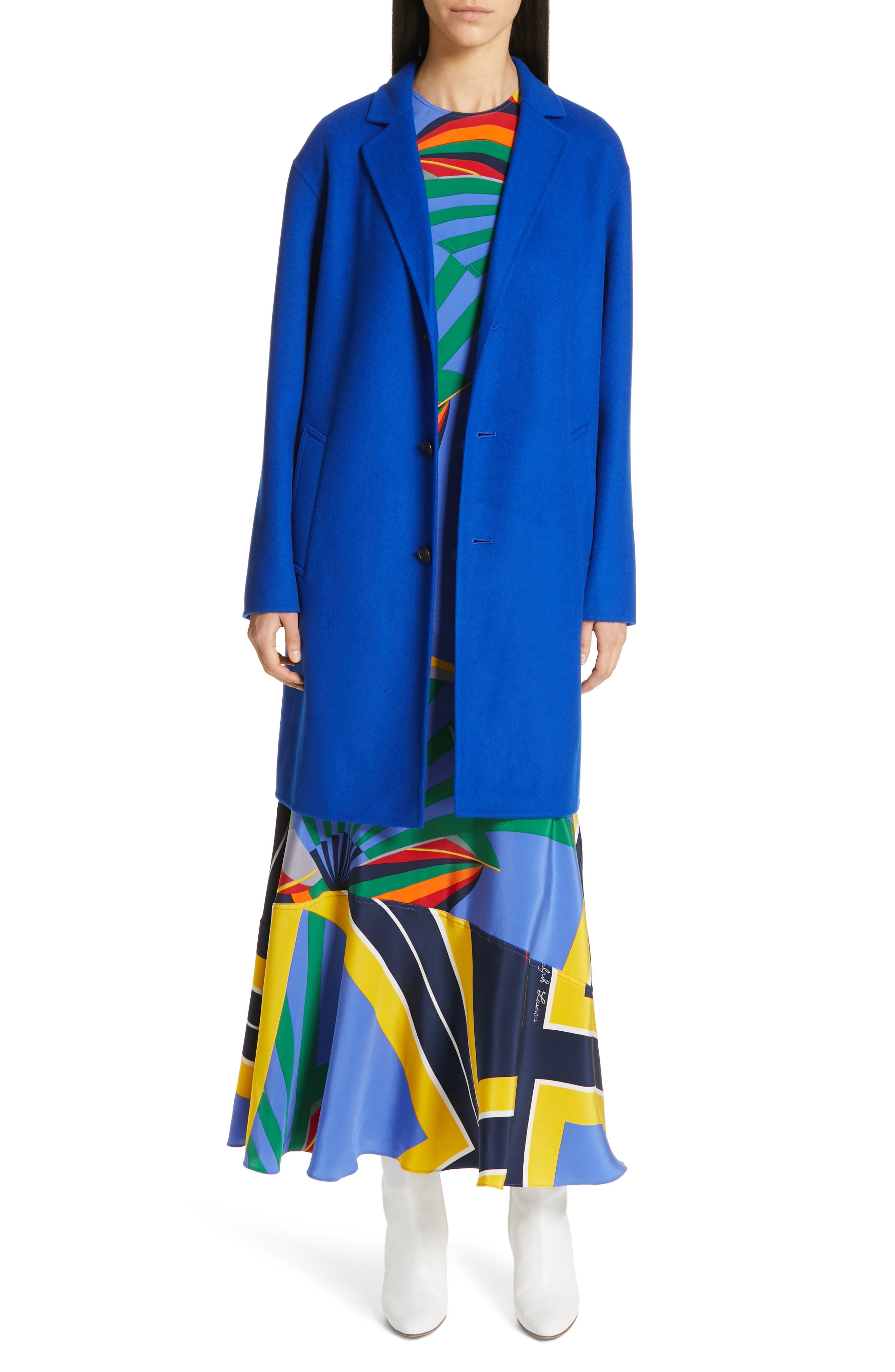 ,                             Sleeveless Silk Maxi Dress,                             Alternate thumbnail 8, color,                             WINDY SAILBOAT PRINT