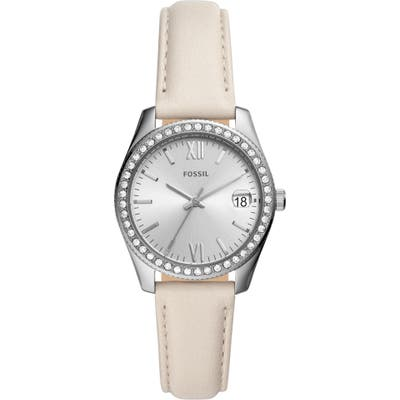 Fossil Scarlette Mini Leather Strap Watch, 32Mm