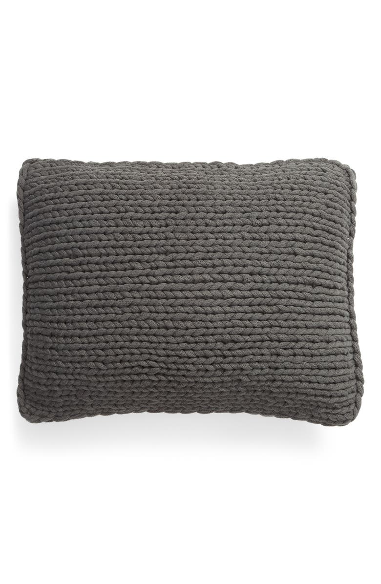 TREASURE & BOND Jersey Rope Pillow, Main, color, GREY ONYX