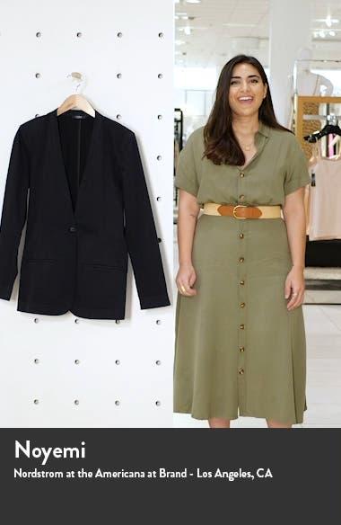 One-Button Linen Blend Blazer, sales video thumbnail