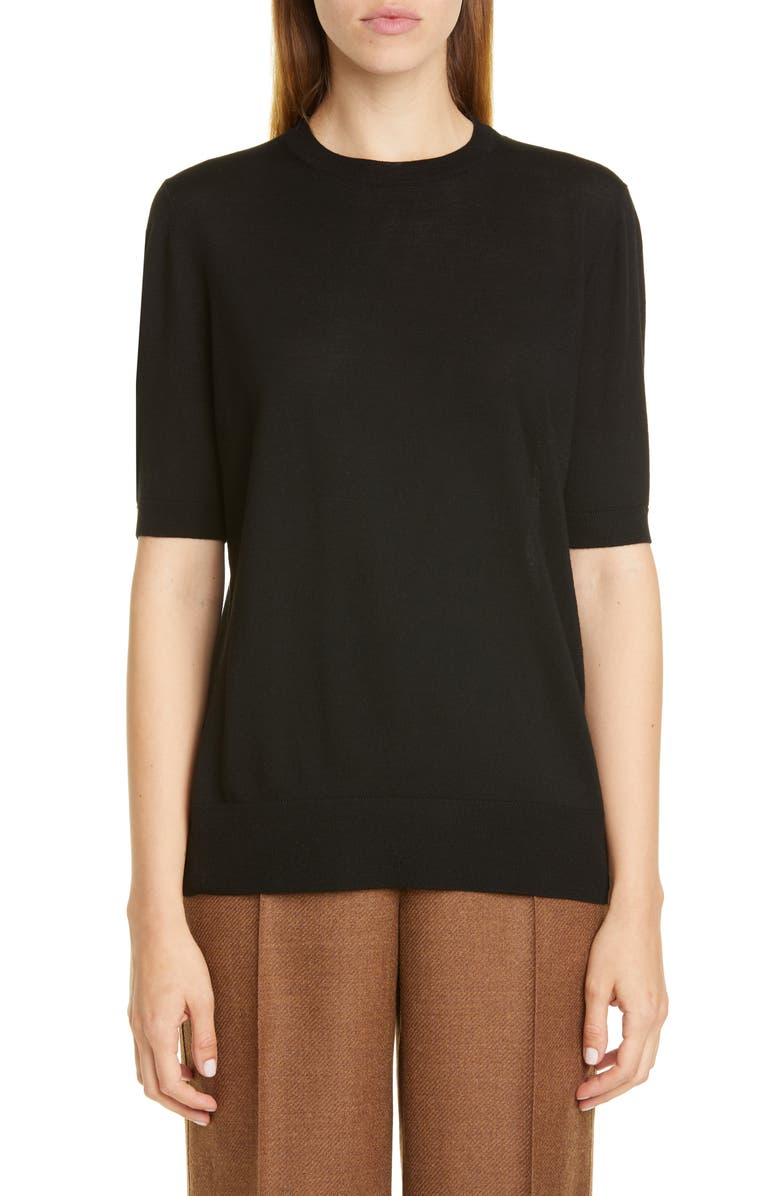 LAFAYETTE 148 NEW YORK Wool Sweater, Main, color, BLACK