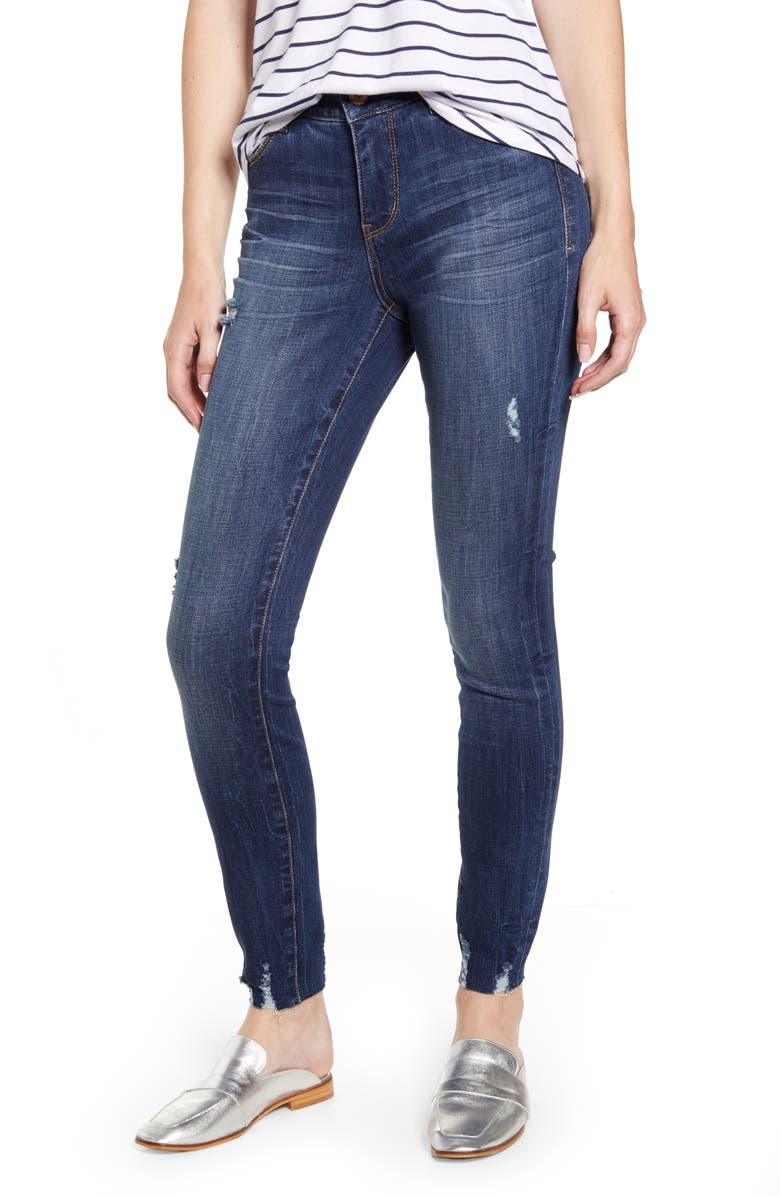 JAG JEANS Cecilia Distressed Raw Hem Skinny Jeans, Main, color, CASPER WASH
