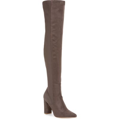 Steve Madden Everly Over The Knee Boot- Grey