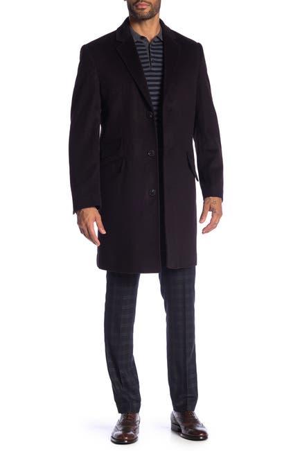 Image of Hart Schaffner Marx Cashmere Blend Shelby Longline Overcoat