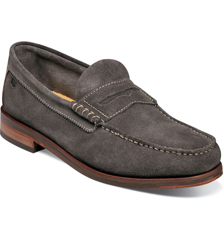FLORSHEIM Heads-Up Penny Loafer, Main, color, GREY SUEDE