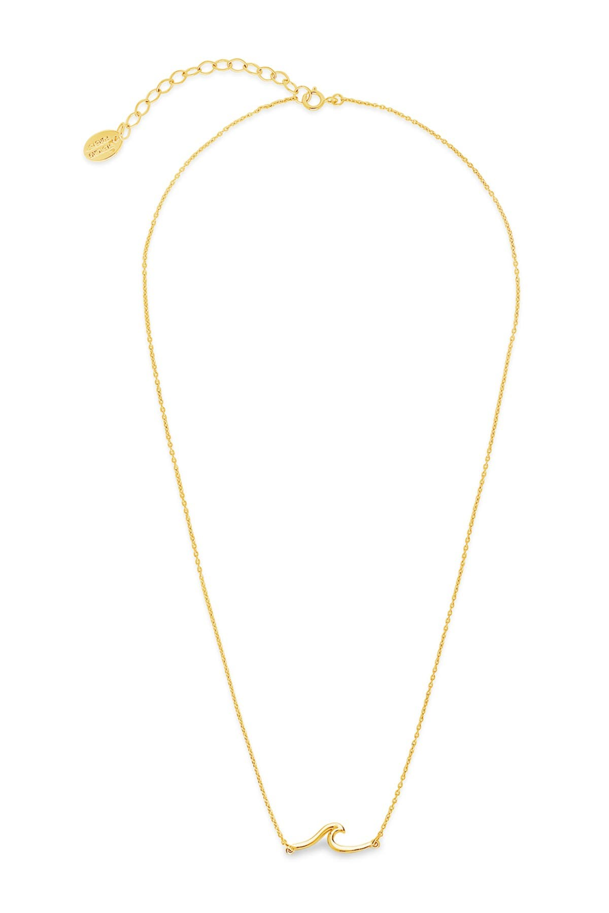 Image of Sterling Forever 14K Gold Vermeil Plated Sterling Silver Dainty Wave Necklace