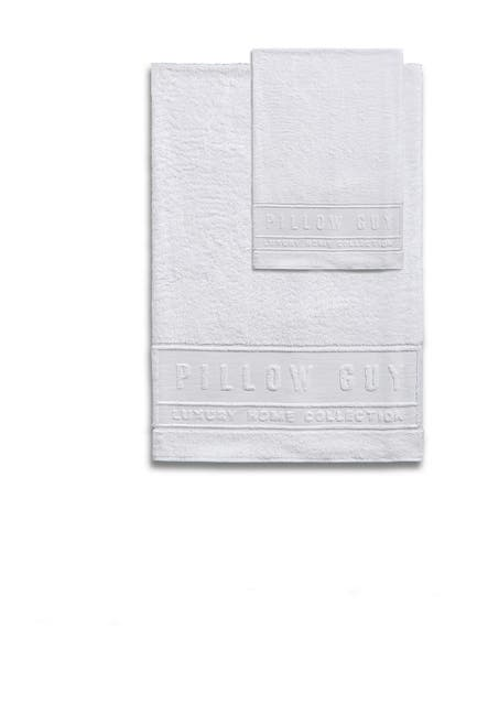 Image of Pillow Guy White Ultimate Hand & Bath Towel 2-Piece Bundle