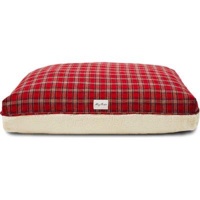 Harry Barker Plaid Rectangle Dog Bed, Red