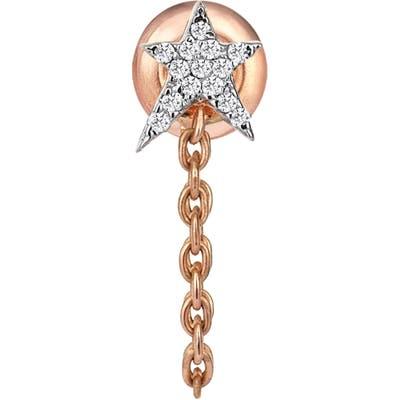 Kismet By Milka Struck Star Diamond Chain Earring