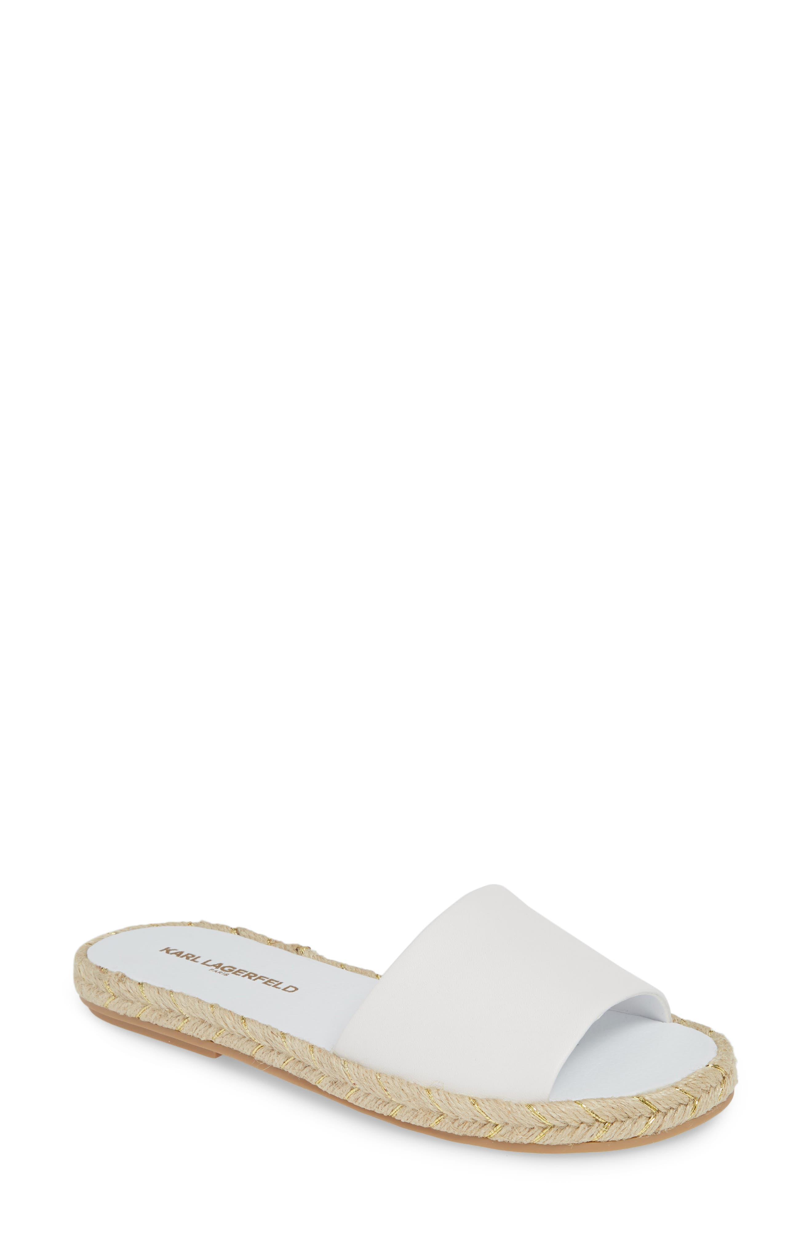 Karl Lagerfeld Paris Niya Slide Sandal, White