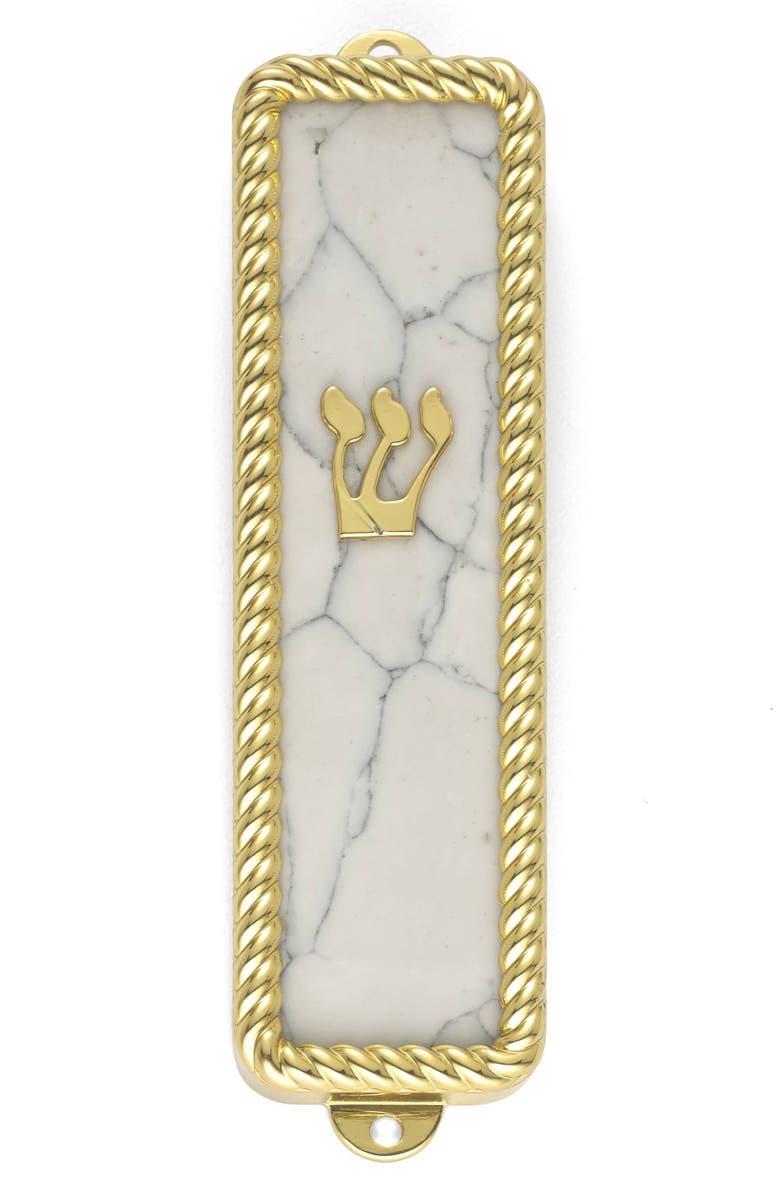 REED & BARTON Roseland Mezuzah Cover, Main, color, NICKEL/ GOLD