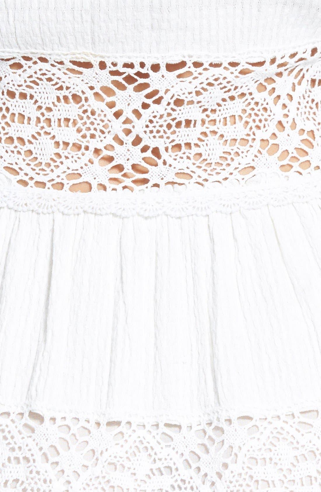 ,                             'Pippa' Gauze Fit & Flare Dress,                             Alternate thumbnail 7, color,                             900