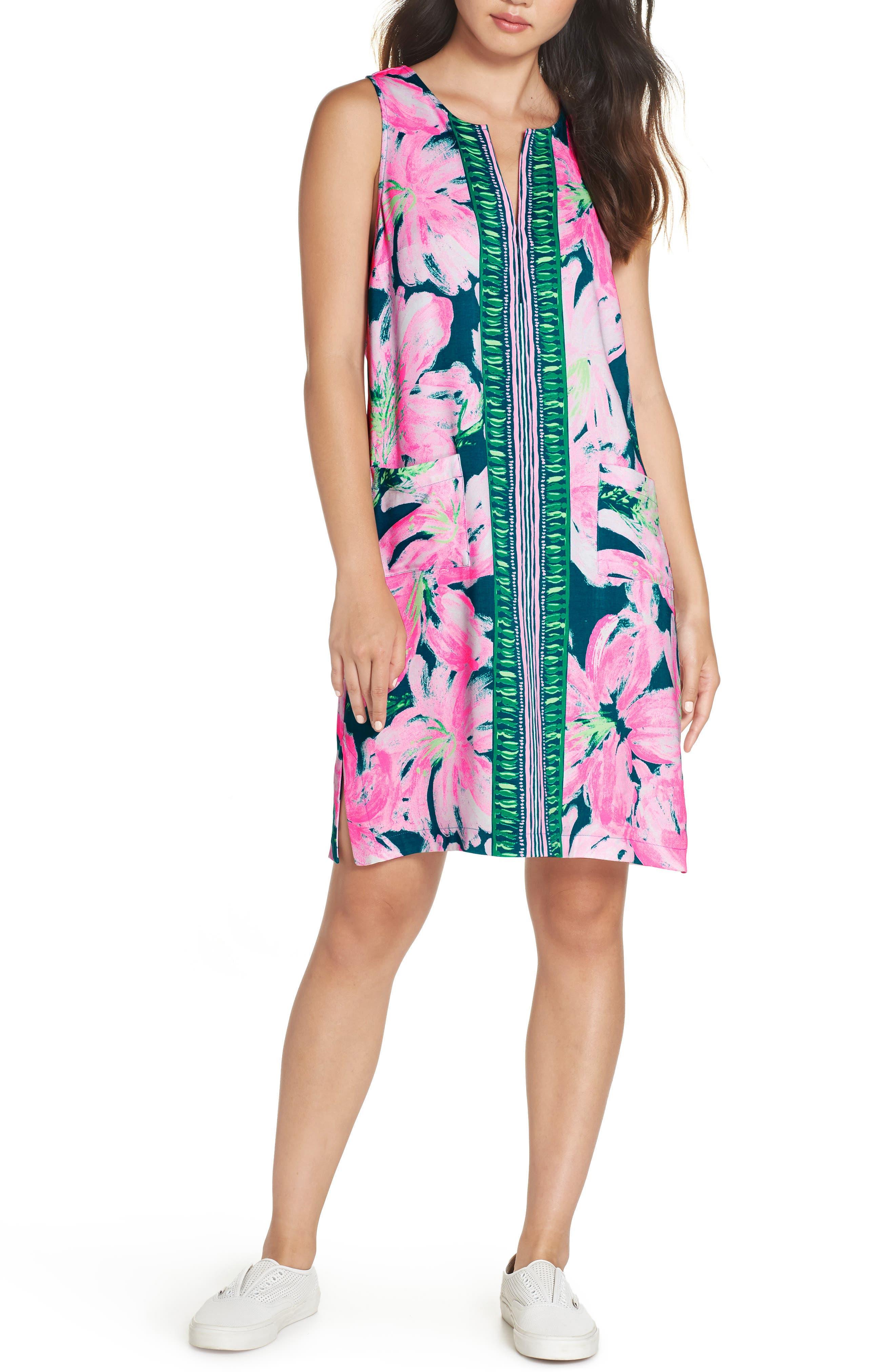 Lilly Pulitzer Carlotta Shift Dress, Blue/green