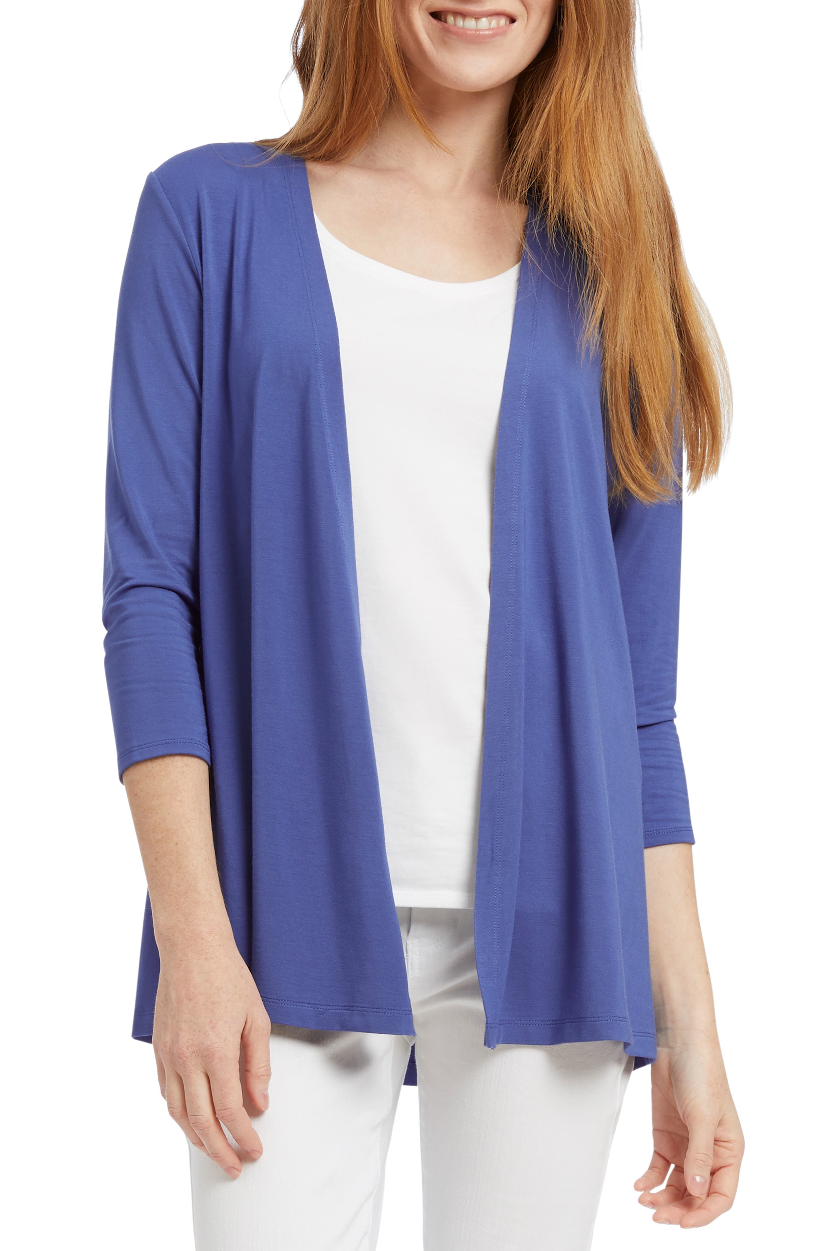 Nic+Zoe Ease And Comfort Cardigan, Blue
