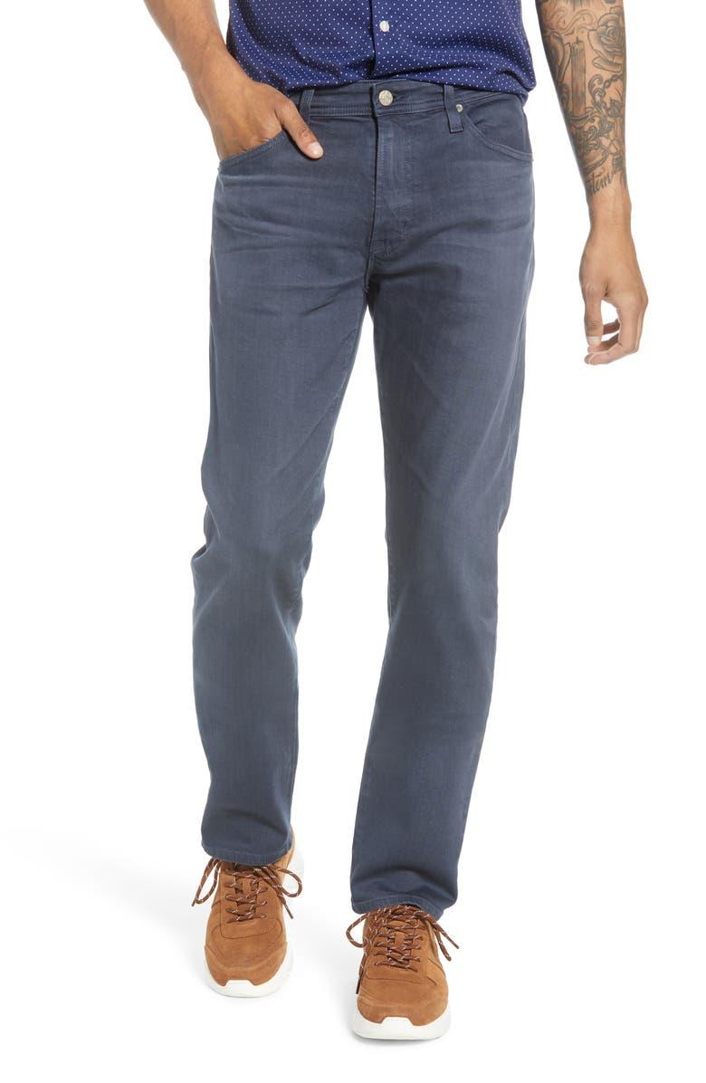 AG Everett Slim Straight Leg Pants, Main, color, 7 YEARS SULFUR SODALITE BLUE
