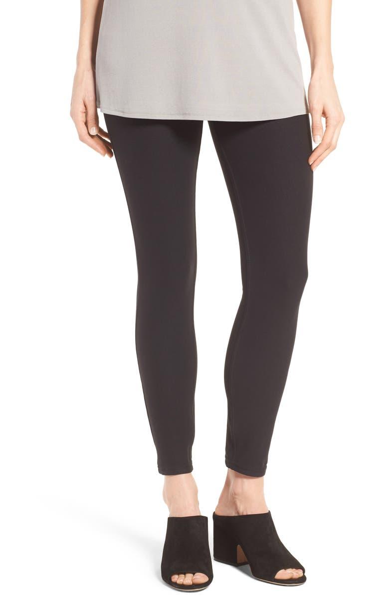 HUE Essential Denim Leggings, Main, color, 001